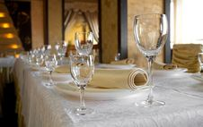 Free Banquet Table Royalty Free Stock Image - 19132616