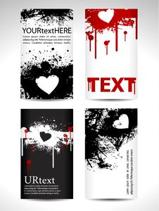 Black And Red Tags With Heart Stock Images
