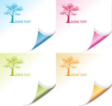 Free Colorful Corners And Trees Royalty Free Stock Images - 19132689