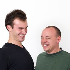Young Men Having Fun Being Silly Stock Image