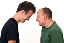 Young Men Having Fun Being Silly Royalty Free Stock Photography