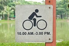 Free Sign Of Time For Bicycle Stock Images - 19133094