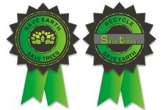Free Environmental Badges Royalty Free Stock Images - 19133259