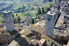 Free San Gimignano Towers - Tuscan Italy Royalty Free Stock Photo - 19133275