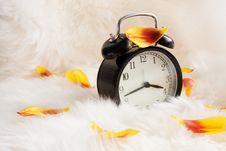 Free Vintage Alarm Clock On A Warm Rug Royalty Free Stock Images - 19133309