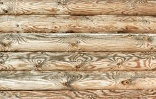 Wall Of Logs Stock Images