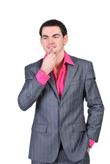 Free Businessman In Suit Business Thinks Royalty Free Stock Photos - 19133818