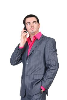 Free Businessman Talking On Mobile Phone Royalty Free Stock Photo - 19133825