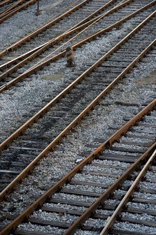 Free Train Tracks Royalty Free Stock Photos - 19134268