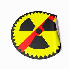 Free No Nuclear Power Sticker Royalty Free Stock Photo - 19134545