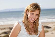 Free Woman Beach Royalty Free Stock Image - 19134566