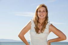 Free Woman Beach Stock Image - 19134571
