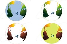 Free Earth. Vector Icons. Stock Images - 19134584