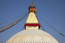 Boudhanath Stupa, Kathmandu, Nepal. Royalty Free Stock Image