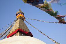 Free Boudhanath Stupa, Kathmandu, Nepal. Stock Image - 19135421