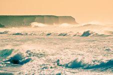 Rough Coastline At Fuerteventura Royalty Free Stock Photography