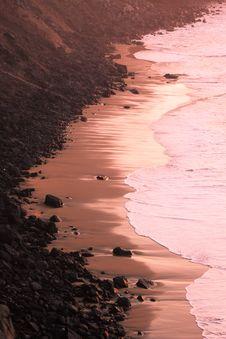 Romantic  Coastline At The Fuerteventura Island