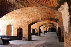 Free Gun Rooms With Cannons Inside Fort Stock Photography - 19135802