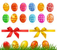 Free Big Collection Of Different Easter Eggs Stock Photo - 19136130