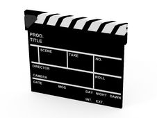 Free Movie Clapboard Stock Photography - 19136542