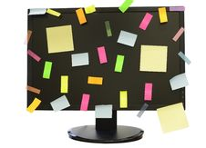 Free Stickers On The Monitor Royalty Free Stock Photo - 19136595