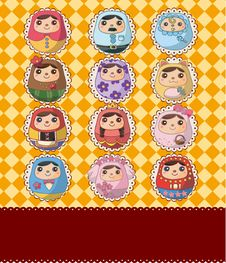 Free Russian Doll Card Royalty Free Stock Image - 19136976