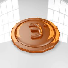 Free Bronze Medal 3D Royalty Free Stock Photography - 19137637