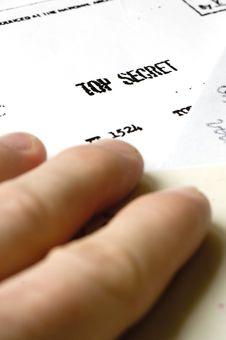 Free Top Secret Royalty Free Stock Image - 19137876
