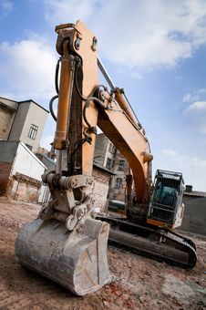Free Dirty Excavator Stock Photography - 19138022