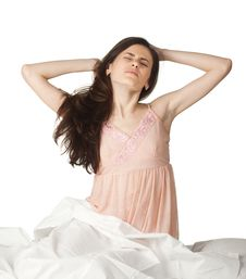 Girl S Morning Royalty Free Stock Images