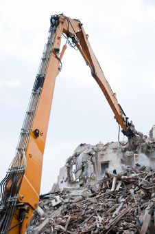 Free Demolition Excavator Stock Photo - 19138030