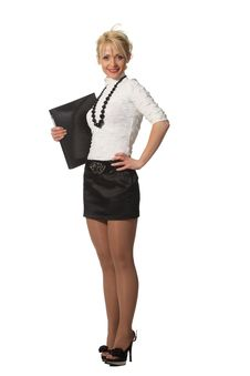 Free Businesswoman With A File Stock Photography - 19138652