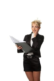 Free Businesswoman With A File Royalty Free Stock Photos - 19138658