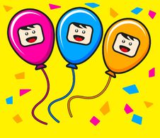 Free Trio Ballon Royalty Free Stock Photos - 19139448