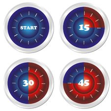 Free Timer. Set Of Four Clock. Stock Images - 19139774