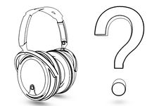 Free Headphone With Question Royalty Free Stock Image - 19139796