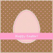 Free Easter Retro Greeting Card Royalty Free Stock Photos - 19139908