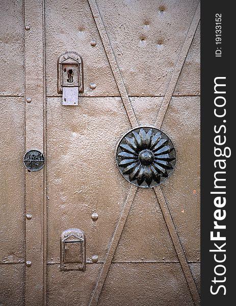 Strong metal entrance gate