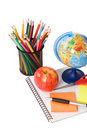 Free Globe With Pencils Isolated On A White Royalty Free Stock Photography - 19148147