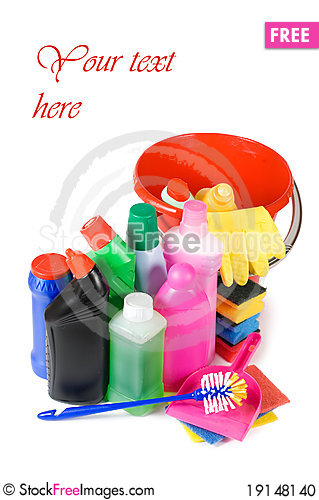 Free Assortment Of Means For Cleaning Stock Photo - 19148140