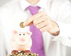 Free Businessman Saving Money Stock Images - 19141324