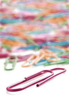 Free Colorful Paper Clips Royalty Free Stock Photography - 19141377