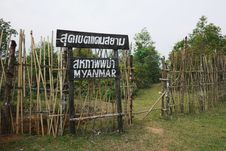 The Border Between Thailand And Myanmar