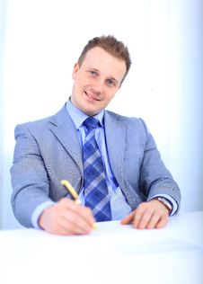 Free Handsome Business Man Stock Photography - 19141852