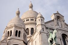Free View Of The White Sacre Coeur In Paris Stock Photo - 19141860