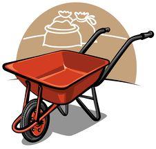 Free Wheelbarrow Royalty Free Stock Photo - 19142335