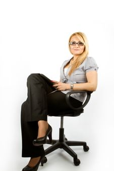 Business Lady With IPad Royalty Free Stock Photography