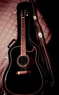 Free Black Guitar Stock Photo - 19143220