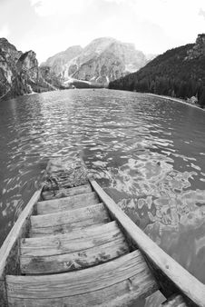 Braies Lake, Italy Royalty Free Stock Images