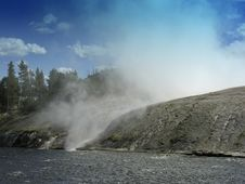 Free Yellowstone Geyser Stock Image - 19143861